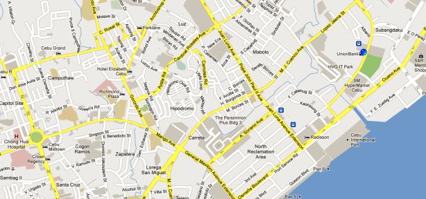 Cebu North Bus Terminal Location Map