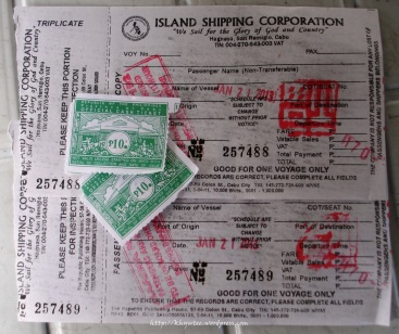 Ferry Ticket and Terminal Fee Ticket