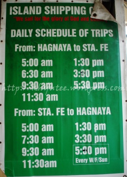Island Shipping Ferry Schedule to Bantayan