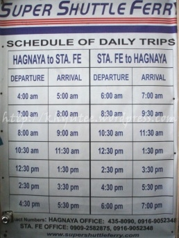 Super Shuttle Ferry Schedule to Bantayan
