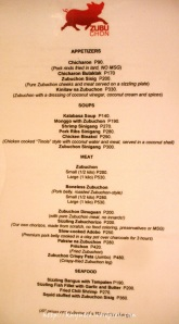 zubuchong appetizers soup meat seafood menu price list