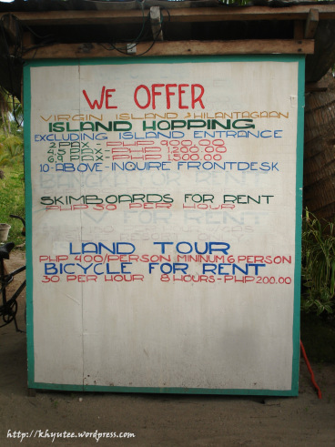 Beach Placid Bantayan Island Hopping Rates