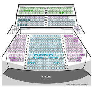Carlos P Romulo Auditorium Seat Plan