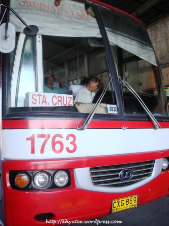 Victory Liner Bus to Sta Cruz