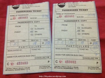 Victory Liner Ticket Fare from Pasay to Iba Zambales