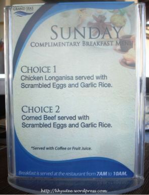 Subic Grand Seas Resort Breakfast