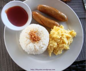 Subic Grand Seas Resort Longganisa with Egg