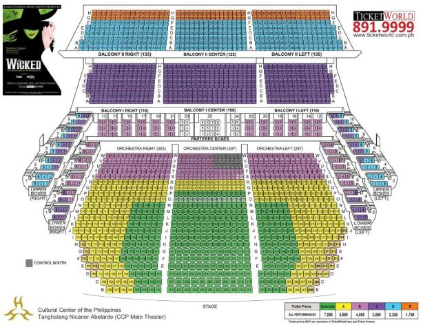 Wicked Seat Plan