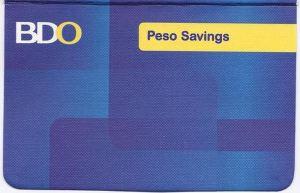 BDO passbook