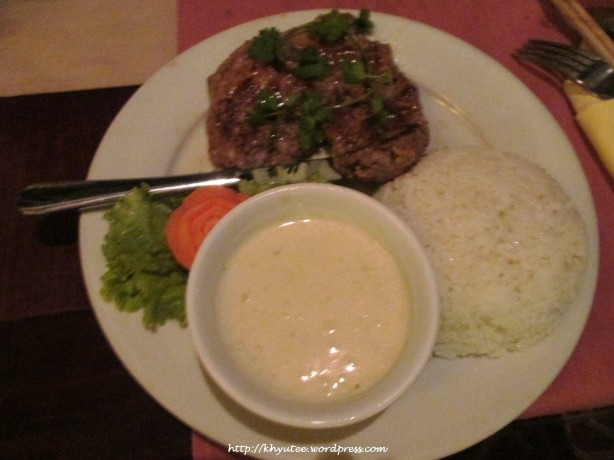 Beef Steak with Blue Cheese