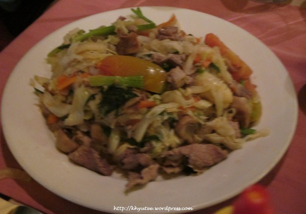 Saute Noodles with Beef