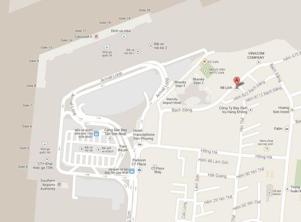 Mi Linh Hotel Vietnam G Map