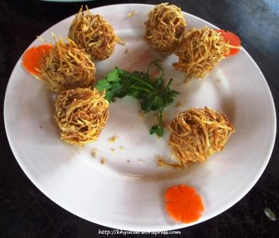 Shrimp Ball Fried Taro
